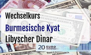 Burmesische Kyat in Libyscher Dinar