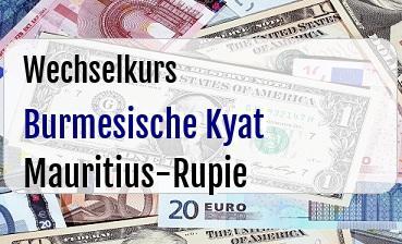 Burmesische Kyat in Mauritius-Rupie