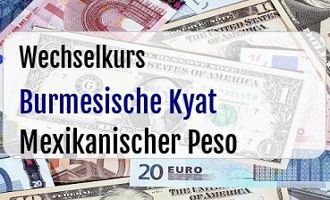 Burmesische Kyat in Mexikanischer Peso