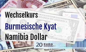 Burmesische Kyat in Namibia Dollar