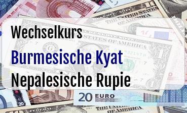 Burmesische Kyat in Nepalesische Rupie