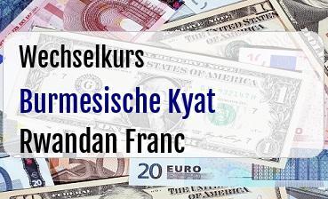 Burmesische Kyat in Rwandan Franc