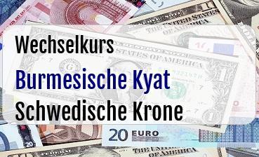 Burmesische Kyat in Schwedische Krone