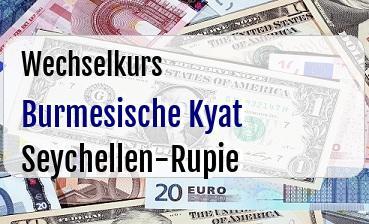 Burmesische Kyat in Seychellen-Rupie