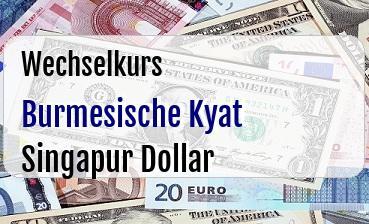 Burmesische Kyat in Singapur Dollar