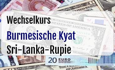 Burmesische Kyat in Sri-Lanka-Rupie