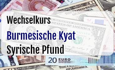 Burmesische Kyat in Syrische Pfund