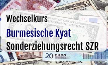 Burmesische Kyat in Sonderziehungsrecht SZR
