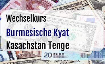 Burmesische Kyat in Kasachstan Tenge