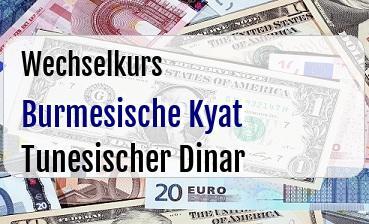 Burmesische Kyat in Tunesischer Dinar