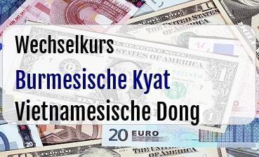 Burmesische Kyat in Vietnamesische Dong