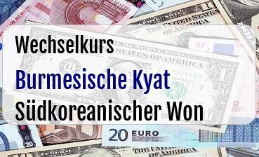 Burmesische Kyat in Südkoreanischer Won