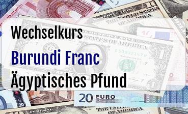 Burundi Franc in Ägyptisches Pfund