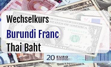 Burundi Franc in Thai Baht