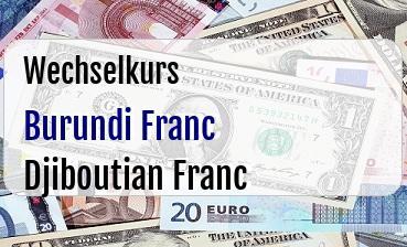 Burundi Franc in Djiboutian Franc