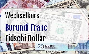 Burundi Franc in Fidschi Dollar