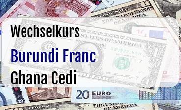 Burundi Franc in Ghana Cedi