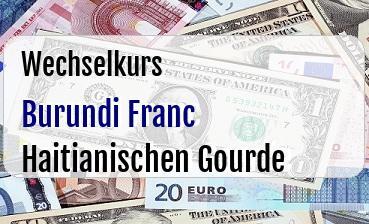 Burundi Franc in Haitianischen Gourde