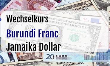 Burundi Franc in Jamaika Dollar