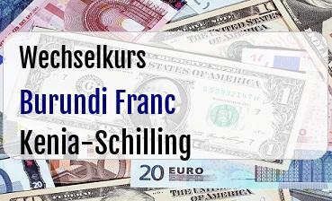 Burundi Franc in Kenia-Schilling