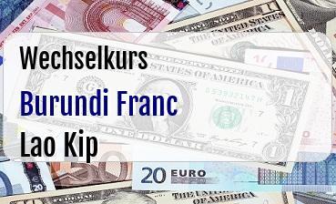 Burundi Franc in Lao Kip