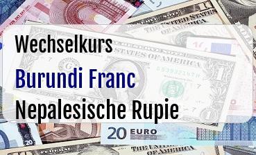 Burundi Franc in Nepalesische Rupie