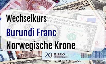 Burundi Franc in Norwegische Krone