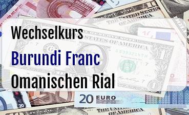 Burundi Franc in Omanischen Rial