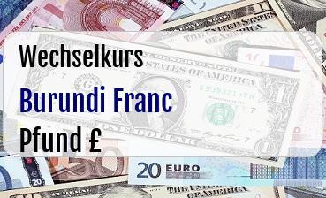 Burundi Franc in Britische Pfund