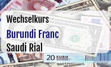 Burundi Franc in Saudi Rial