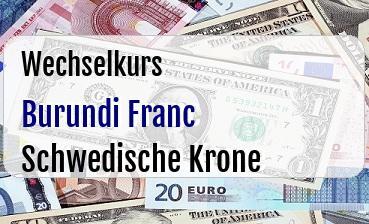 Burundi Franc in Schwedische Krone