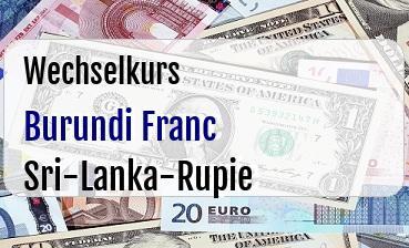 Burundi Franc in Sri-Lanka-Rupie