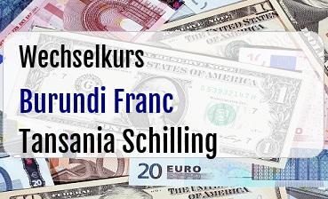 Burundi Franc in Tansania Schilling