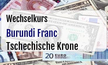 Burundi Franc in Tschechische Krone