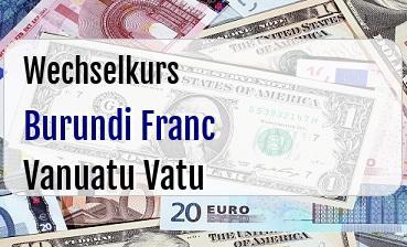 Burundi Franc in Vanuatu Vatu