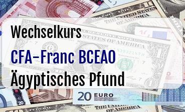 CFA-Franc BCEAO in Ägyptisches Pfund