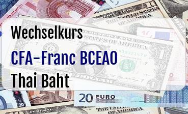 CFA-Franc BCEAO in Thai Baht