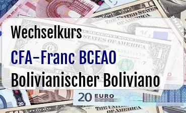 CFA-Franc BCEAO in Bolivianischer Boliviano