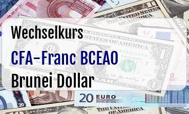 CFA-Franc BCEAO in Brunei Dollar