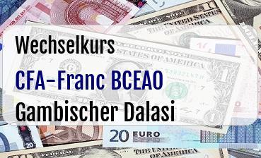 CFA-Franc BCEAO in Gambischer Dalasi