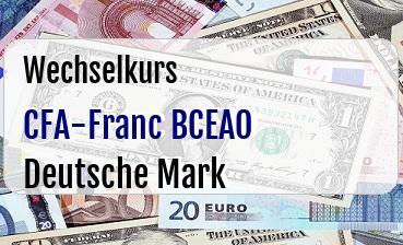 CFA-Franc BCEAO in Deutsche Mark