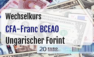 CFA-Franc BCEAO in Ungarischer Forint