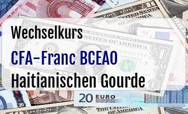 CFA-Franc BCEAO in Haitianischen Gourde