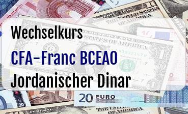 CFA-Franc BCEAO in Jordanischer Dinar