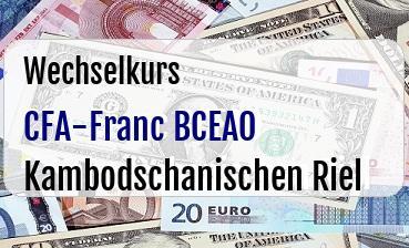 CFA-Franc BCEAO in Kambodschanischen Riel