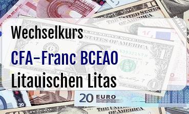 CFA-Franc BCEAO in Litauischen Litas