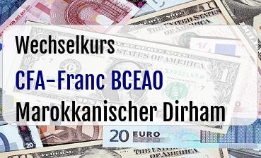 CFA-Franc BCEAO in Marokkanischer Dirham