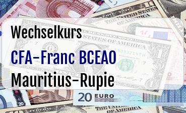 CFA-Franc BCEAO in Mauritius-Rupie