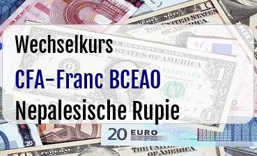 CFA-Franc BCEAO in Nepalesische Rupie