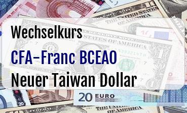 CFA-Franc BCEAO in Neuer Taiwan Dollar